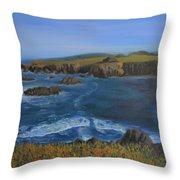 Sea Ranch In Spring Throw Pillow