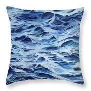 Sea Rhythms Throw Pillow