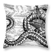 Sea Serpent, 1555 Throw Pillow