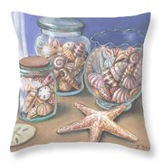 Sea Shell Collection Throw Pillow