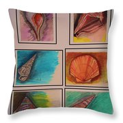Sea Shells Throw Pillow