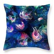 Sea Shells Throw Pillow by Rachel Christine Nowicki