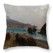 Sea Shore Crimea Throw Pillow
