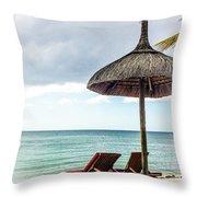 Sea Side Throw Pillow