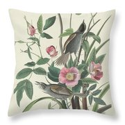 Sea-side Finch Throw Pillow