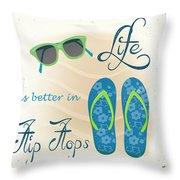 Sea Side-jp2732 Throw Pillow