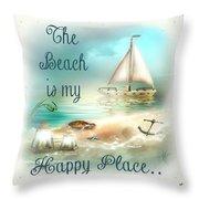 Sea Side-jp2734 Throw Pillow