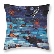 Sea Space Throw Pillow