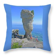 Sea Stack Perspective Throw Pillow