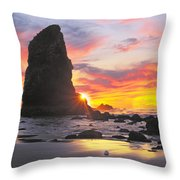 Sea Stacks Throw Pillow