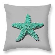 Sea Star Aqua .png Throw Pillow