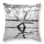 Sea Star Bw Throw Pillow