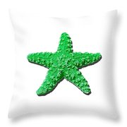 Sea Star Green .png Throw Pillow