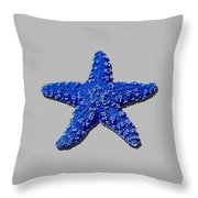 Sea Star Navy Blue .png Throw Pillow