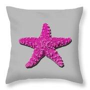 Sea Star Pink .png Throw Pillow