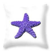 Sea Star Purple .png Throw Pillow