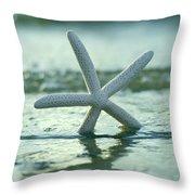 Sea Star Vert Throw Pillow