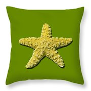 Sea Star Yellow .png Throw Pillow