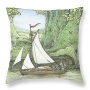 Sea Story Throw Pillow