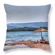 Sea Sun Beach Throw Pillow