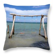 Sea Swing Throw Pillow