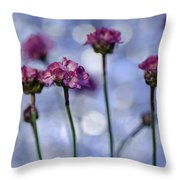 Sea Thrift Blossoms Throw Pillow