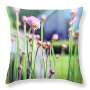 Sea Thrift Throw Pillow