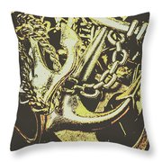 Sea Tides And Maritime Anchors Throw Pillow