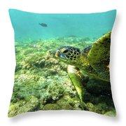 Sea Turtle #2 Throw Pillow