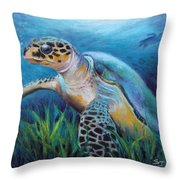 Sea Turtle Cove Throw Pillow