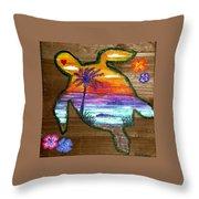 Sea Turtle Love Throw Pillow