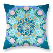 Sea Turtle Mandala  Throw Pillow