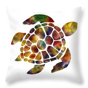 Sea Turtle Throw Pillow by Michael Colgate