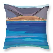 Sea View And Chapel Throw Pillow