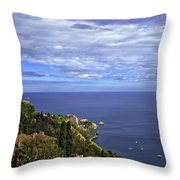 Sea View From Taormina Throw Pillow