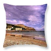 Sea View Town Throw Pillow