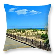 Sea Walk Throw Pillow