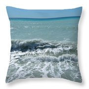 Sea Waves In Italy Throw Pillow