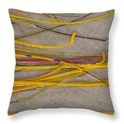 Sea Whip Coral Throw Pillow
