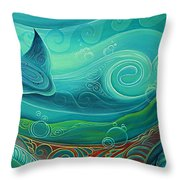 Seabed By Reina Cottier Throw Pillow
