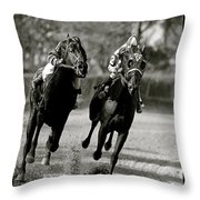 Seabiscuit Vs War Admiral, Match Of The Century, Pimlico, 1938 Throw Pillow