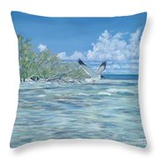 Seablue Throw Pillow