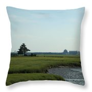 Seabrook Beach Nh  Throw Pillow
