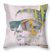 Seaching The Summer Throw Pillow