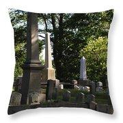 Seacoast Cemetery Throw Pillow