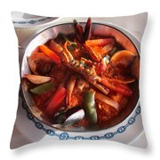 Seafood Throw Pillow