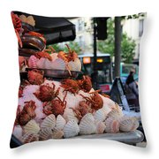 Seafood Restaurant 2 Throw Pillow