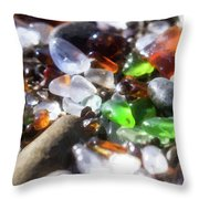 Seaglass Background Throw Pillow
