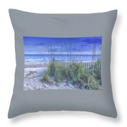 Seagrass And Sand Throw Pillow