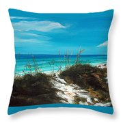 Seagrove Beach Florida Throw Pillow